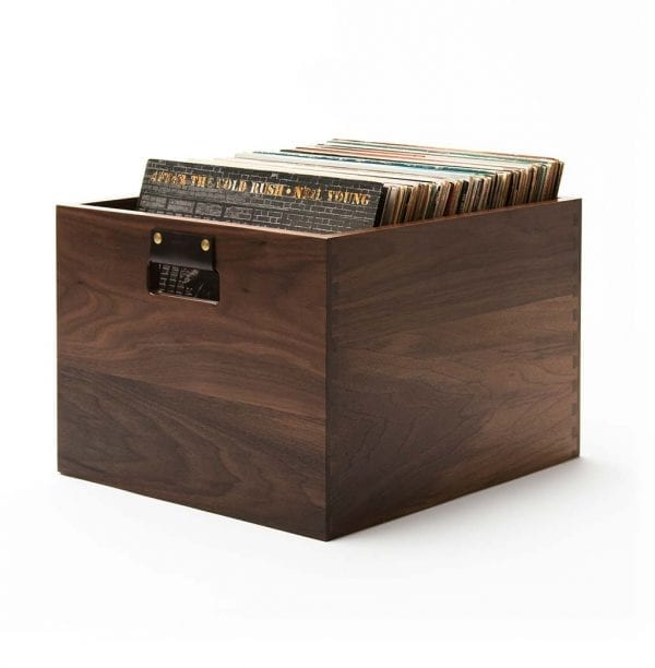 Dovetail Record Crate Walnut